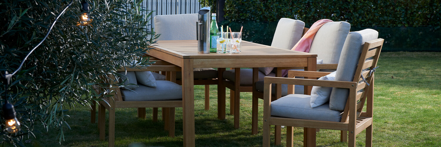 Excalibur Outdoor Furniture Augustine 7 Pce Dining