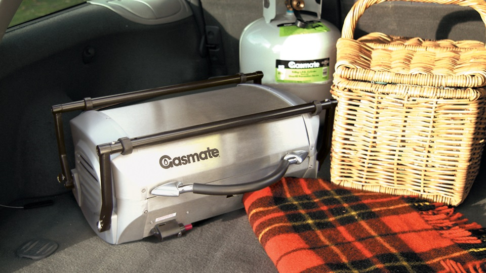 The Cruiser Portable BBQ folds away to fit into your car boot or RV.