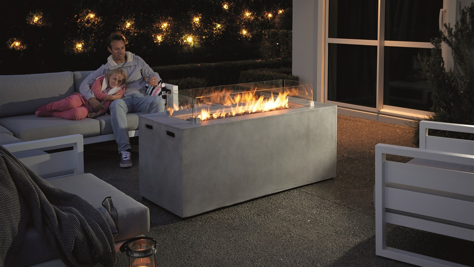 The Gasmate Cinder Fire Table suits most outdoor areas.